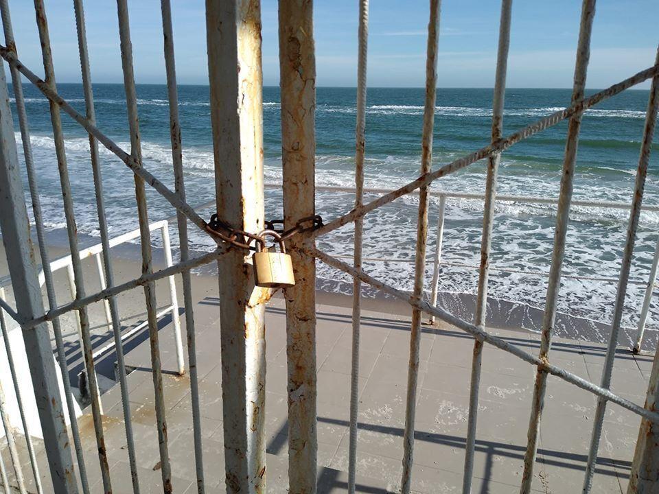 Закрытый пляж Одессы