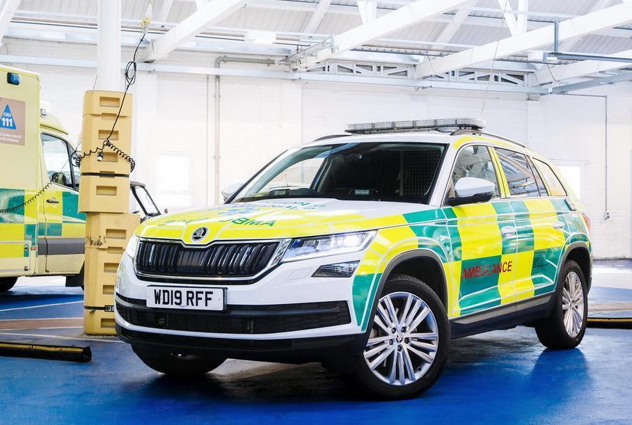 Обычные Skoda Kodiaq также работают в скорой помощи
