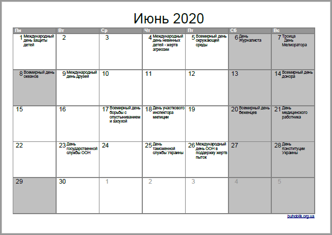 Июнь 2020: выходные в Украине