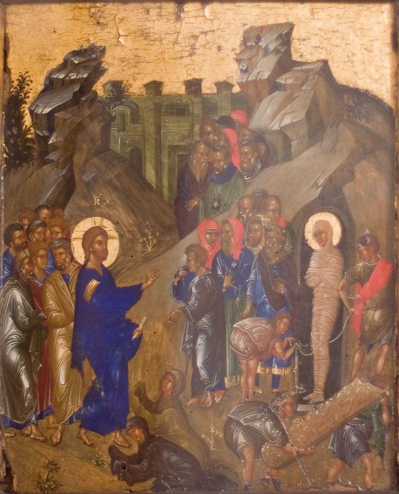 Воскрешение Лазаря. Византийская икона