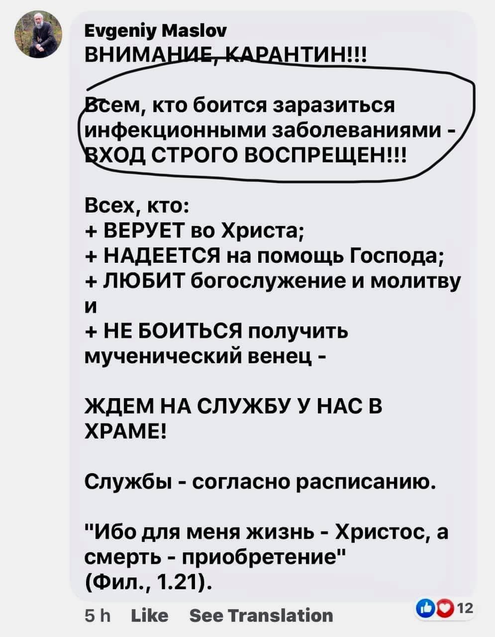 Комментарий в сети