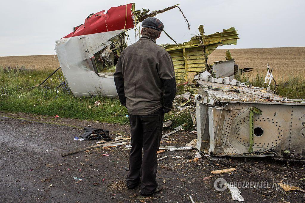 Місце аварії літака над Донбасом