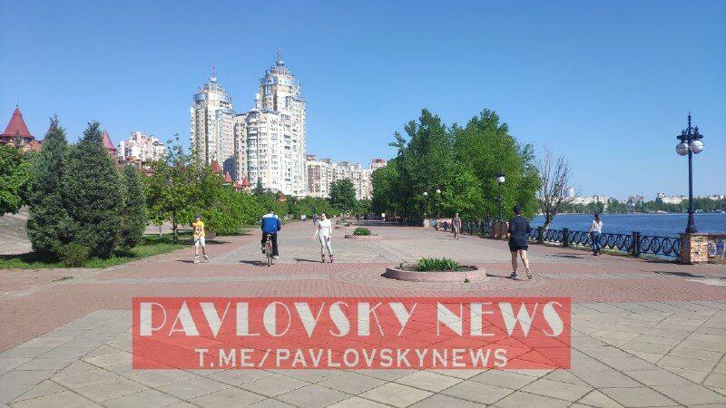 В Киеве люди вышли на улицы после ослабления карантина