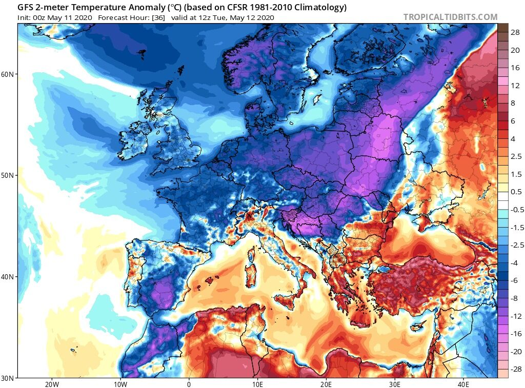 Европу накроет резкое похолодание с метелями и снегопадами