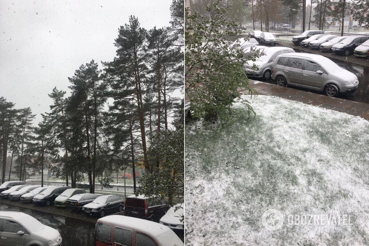 Европу засыпало снегом в мае