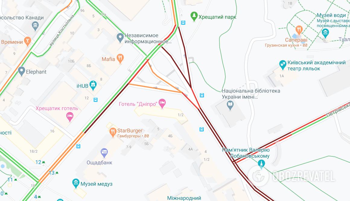 Пробки в Киеве утром 13 мая