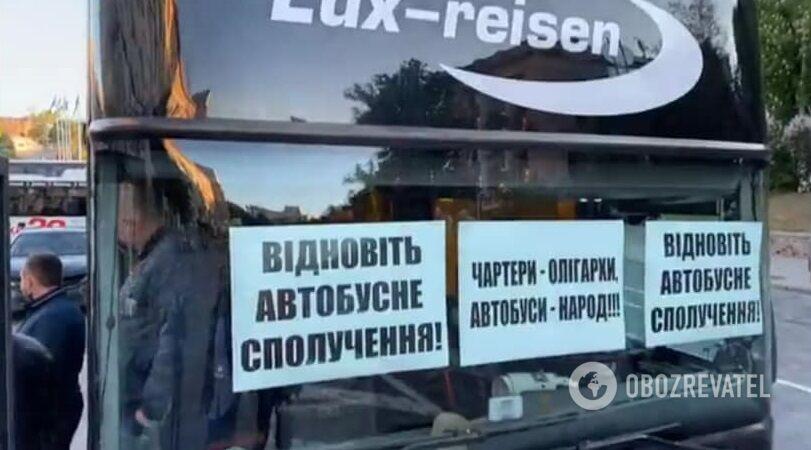 Подготовка к акции автоперевозчиков в Киеве