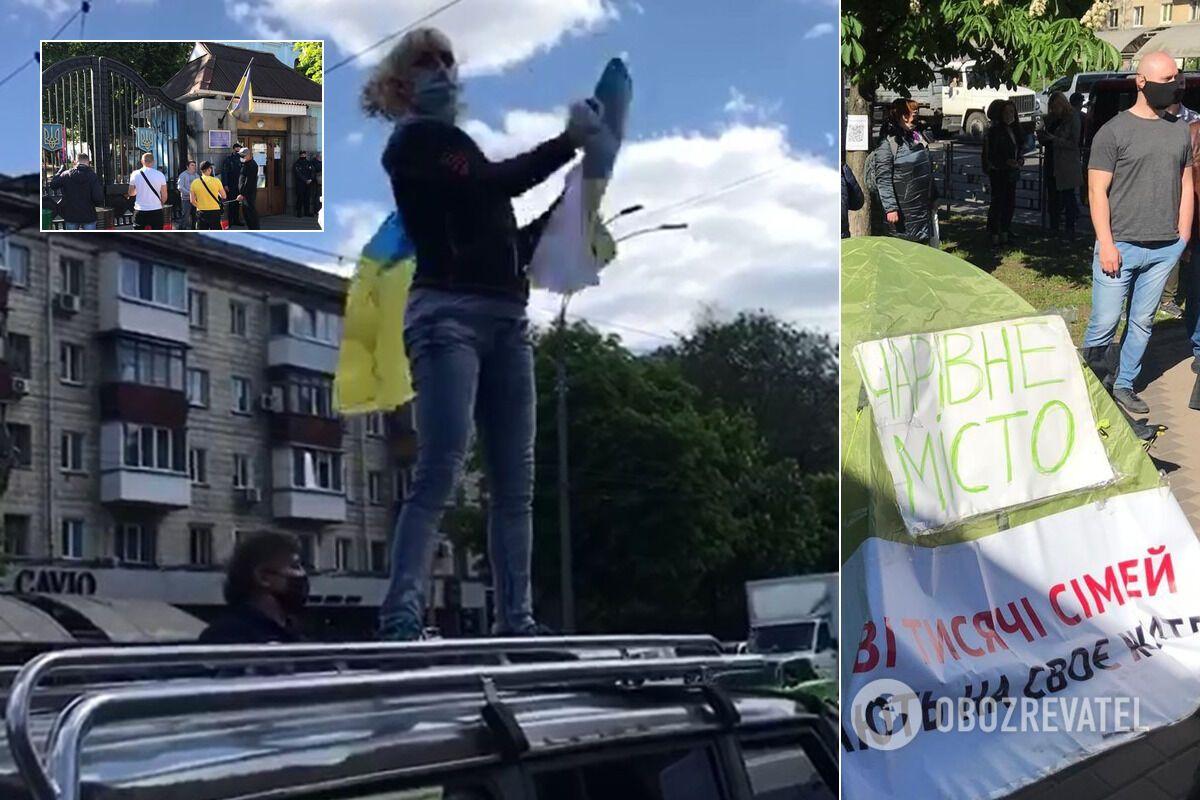 Протест в Киеве – от Зеленского требуют выполнить обещания