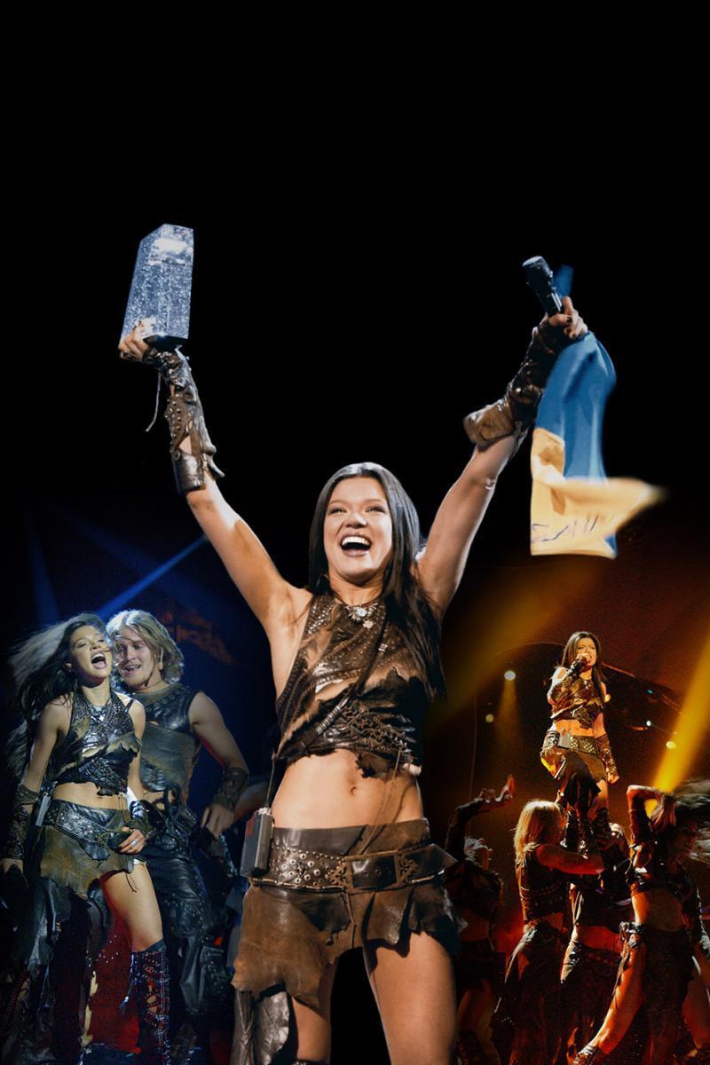 Руслана після перемоги на Євробаченні 2004