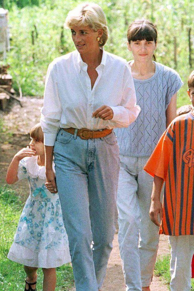 Принцеса Діана в джинсах