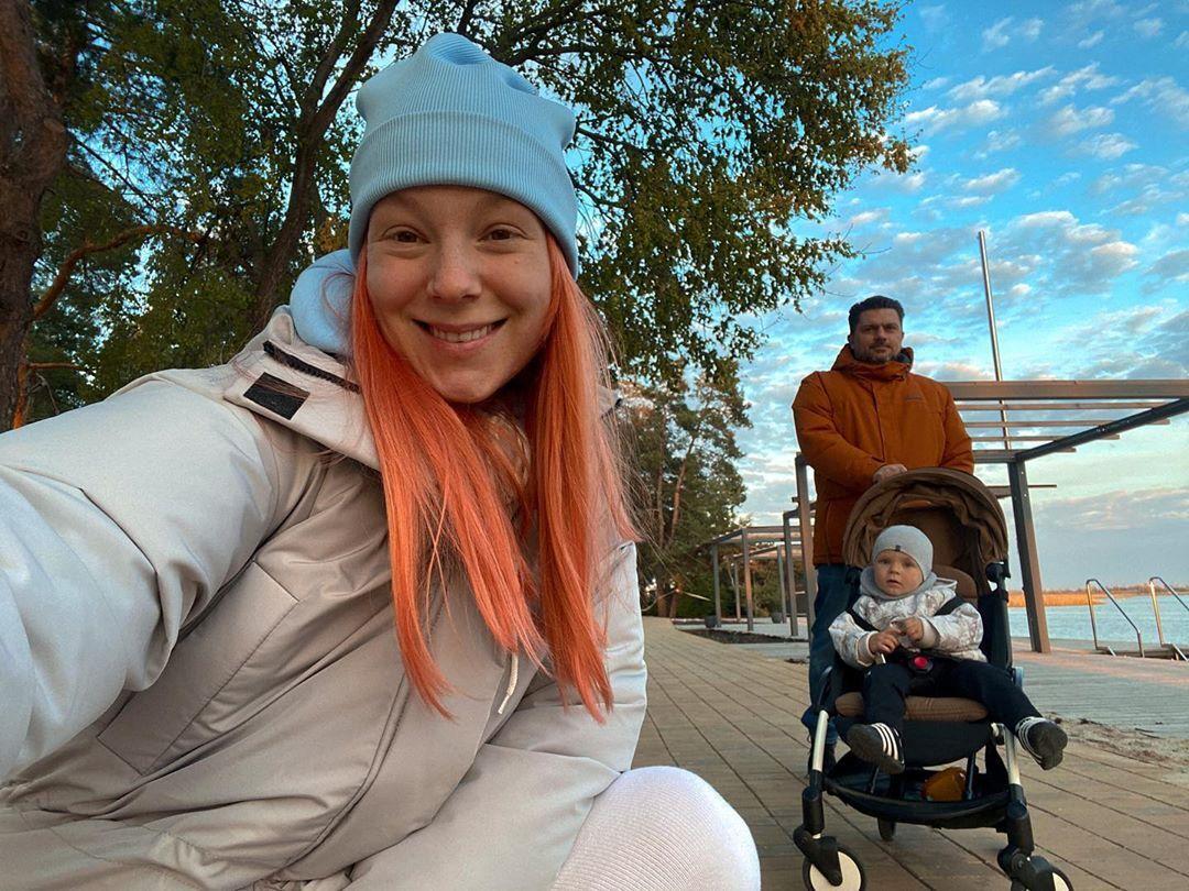 Світлана Тарабарова з чоловіком і сином
