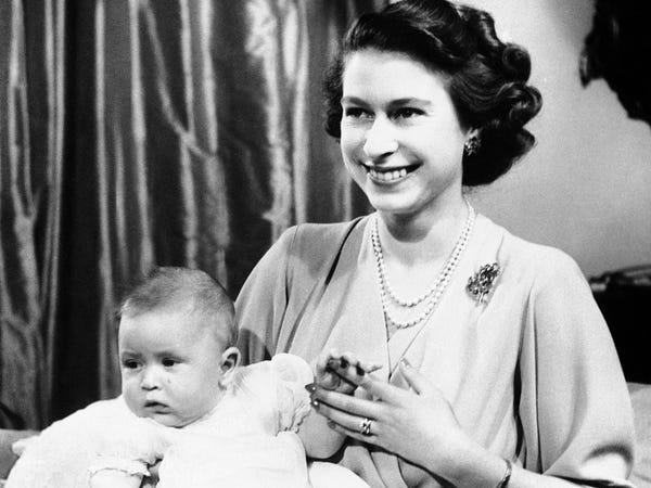 Королева Єлизавета в молодості