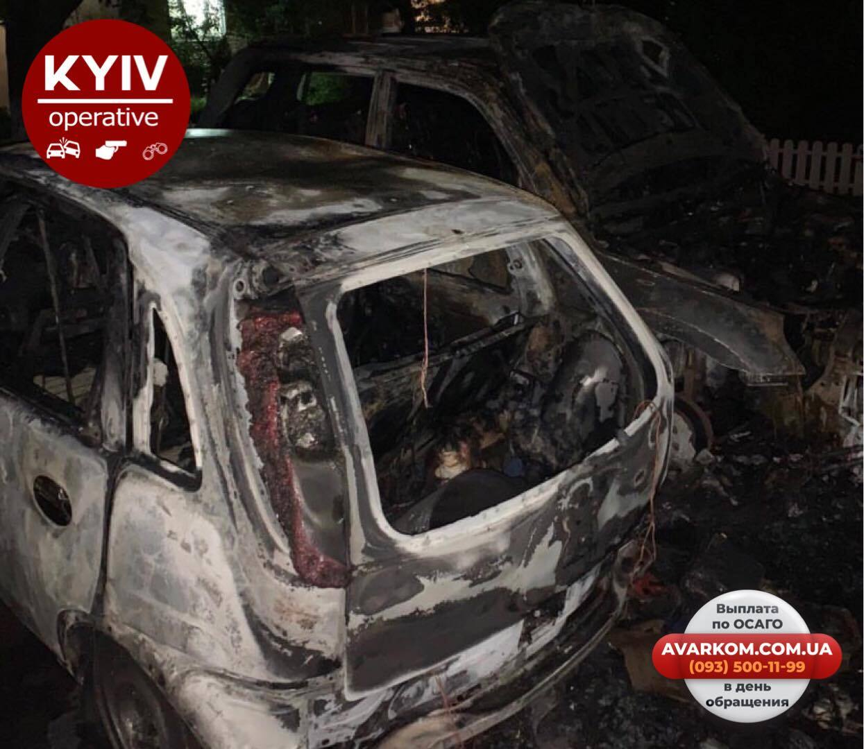 У Києві трапилася пожежа на парковці