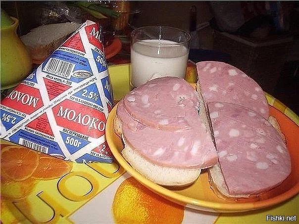 Советский завтрак: бутерброды