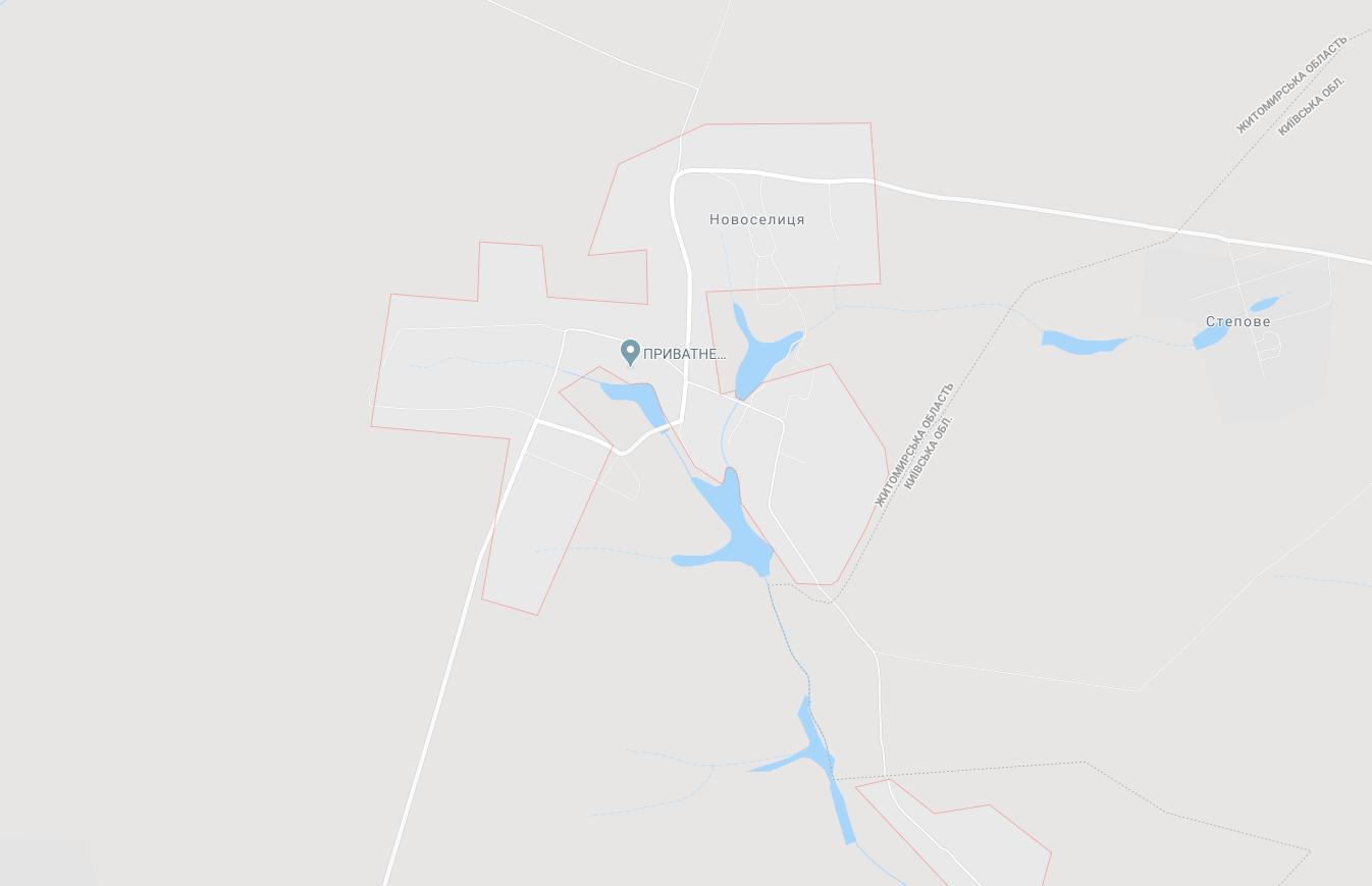 Село Новоселица на карте
