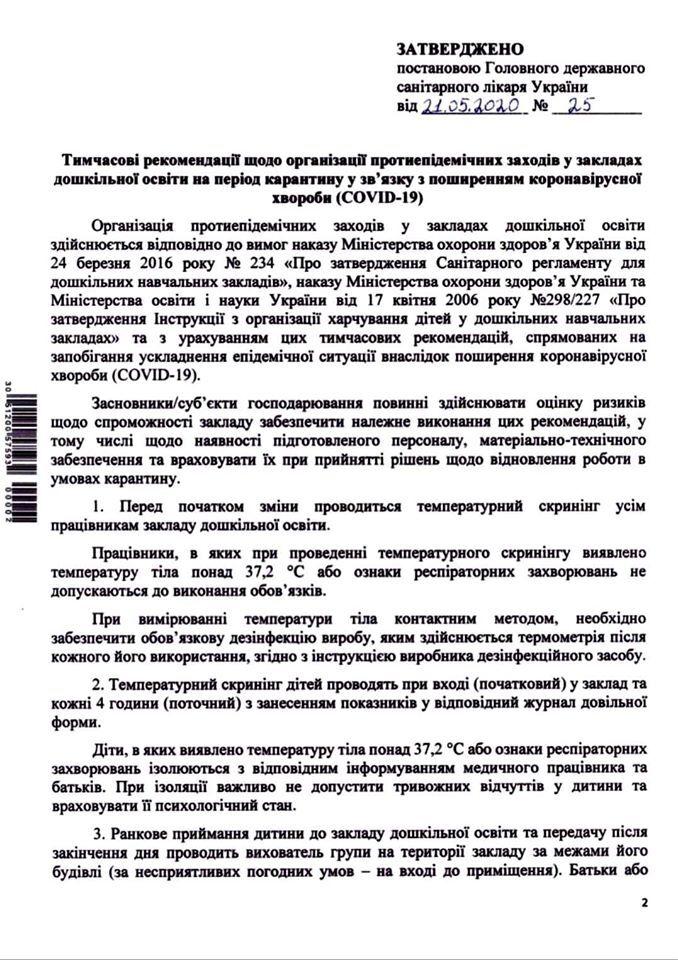 Минздрав назвал условия работы детсадов с 25 мая: что разрешено и что запрещено