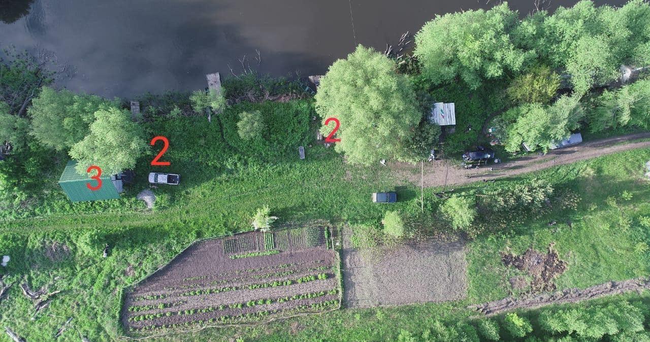 Аэроснимок места трагедии с полицейского квадрокоптера
