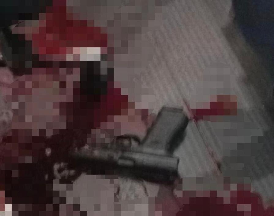 Фрагмент світлини з місця інциденту