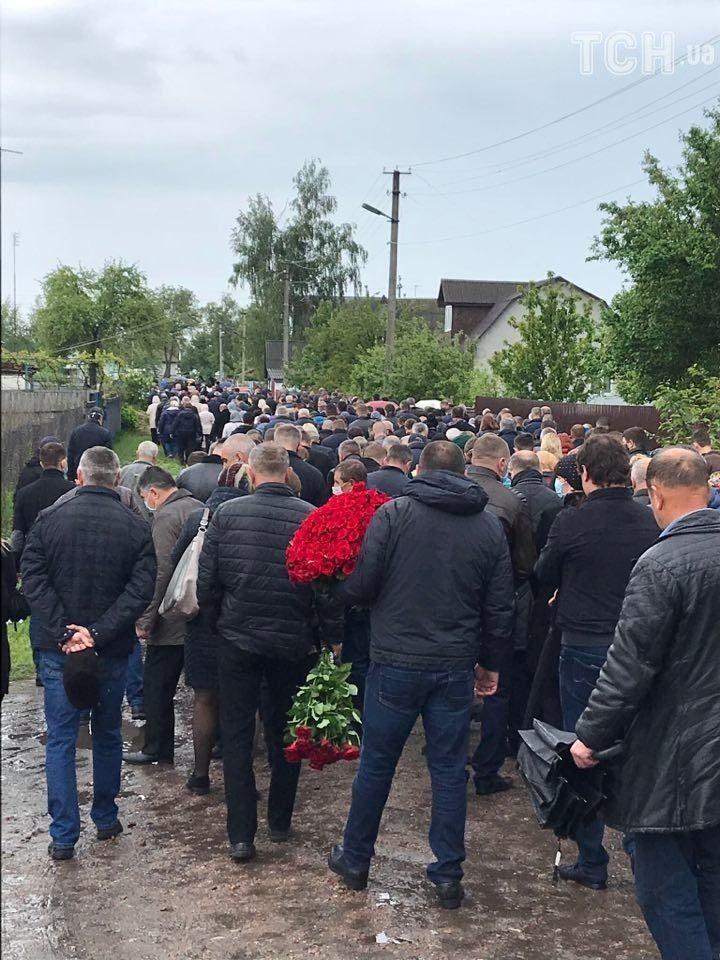 Прощання із нардепом Давиденком на Чернігівщині