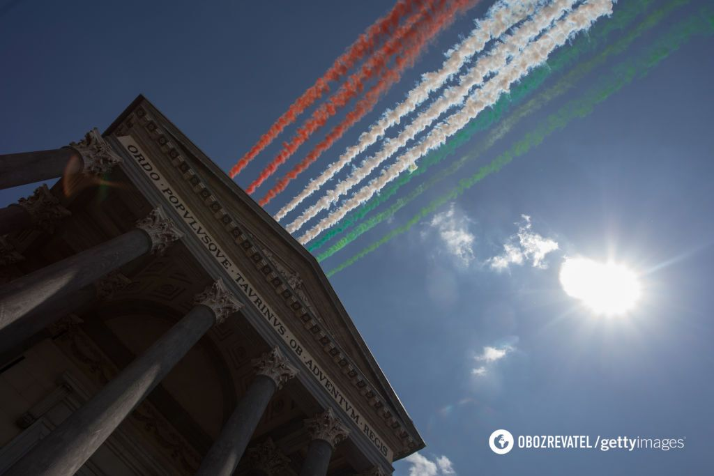 В Италии состоялся грандиозный авиапарад