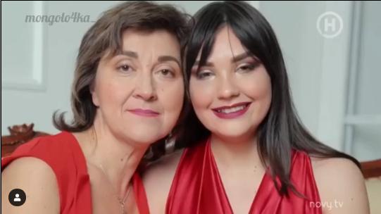 Євгенія Мазур з мамою