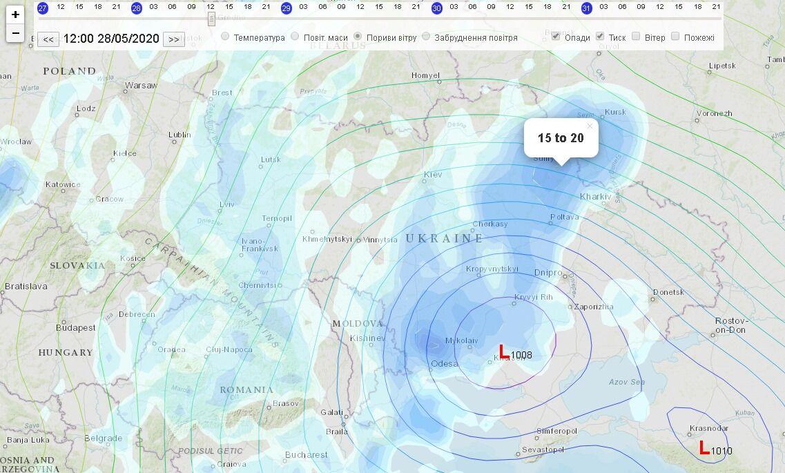 На Україну насувається циклон