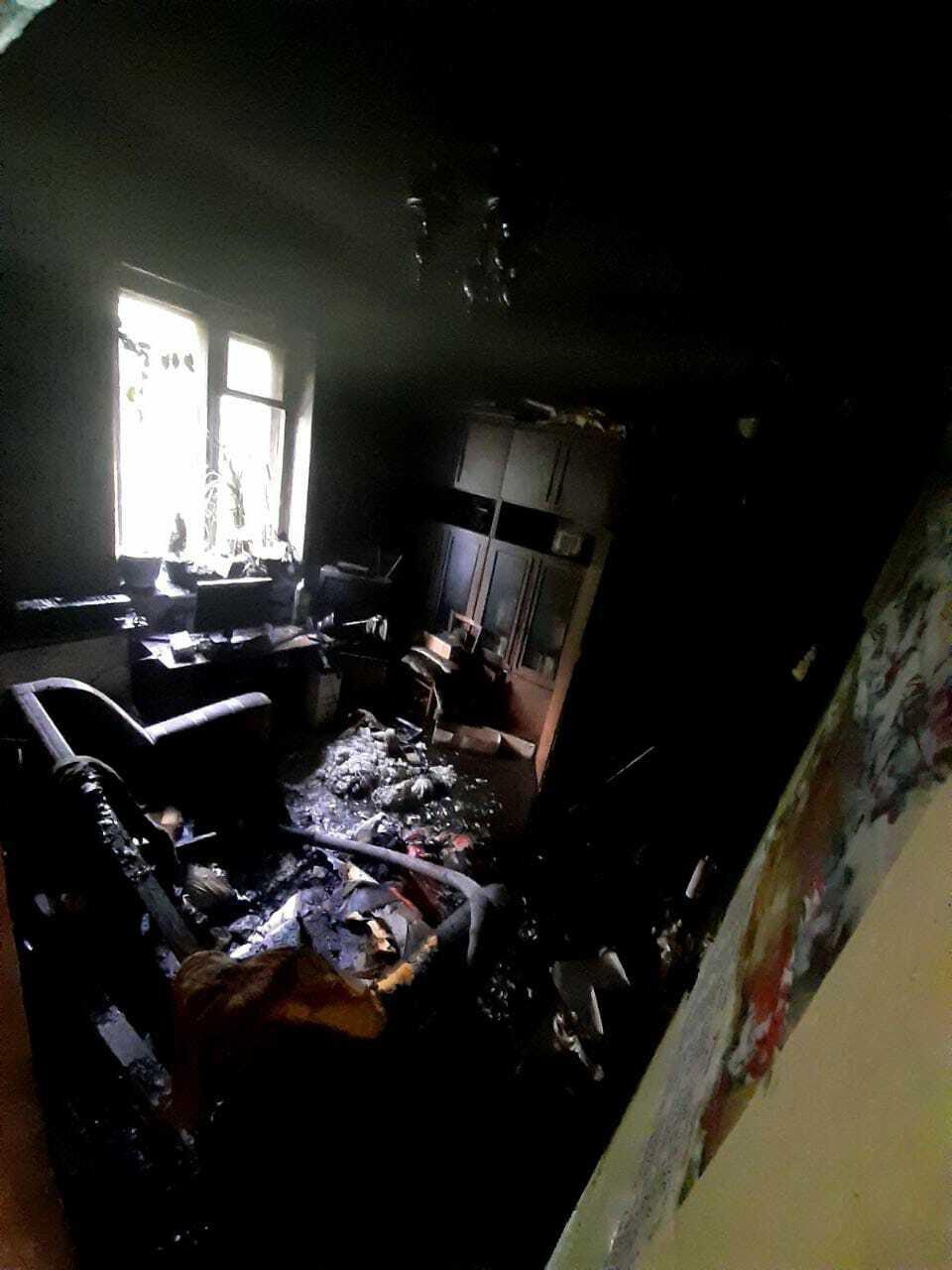 При пожаре обнаружено тело женщины