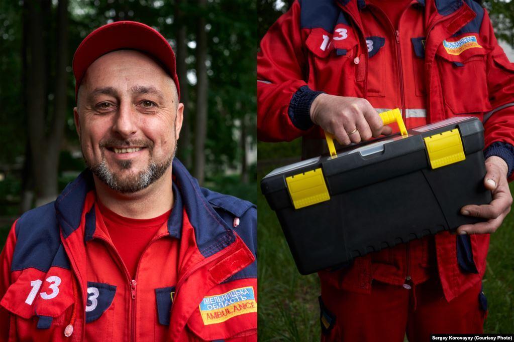 Віталій Климчук, м. Хмельницький. Працює водієм у службі екстреної допомоги сім років