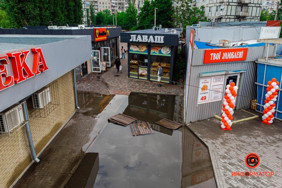 Через дощ проблема утворилася на 12 кварталі, житловому масиві Парус, Донецькому шосе і Березинській