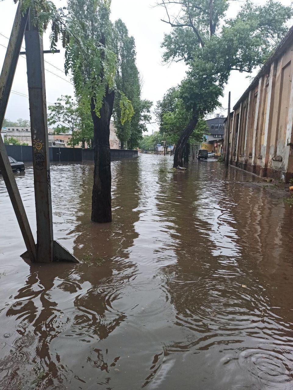 Одессу затопило из-за дождя