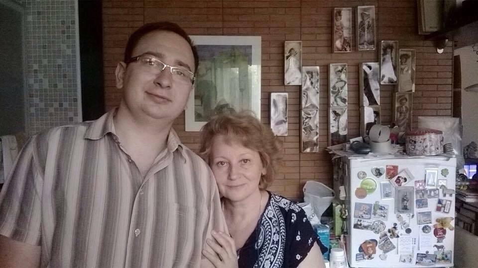 Николай Полозов с мамой Натальей
