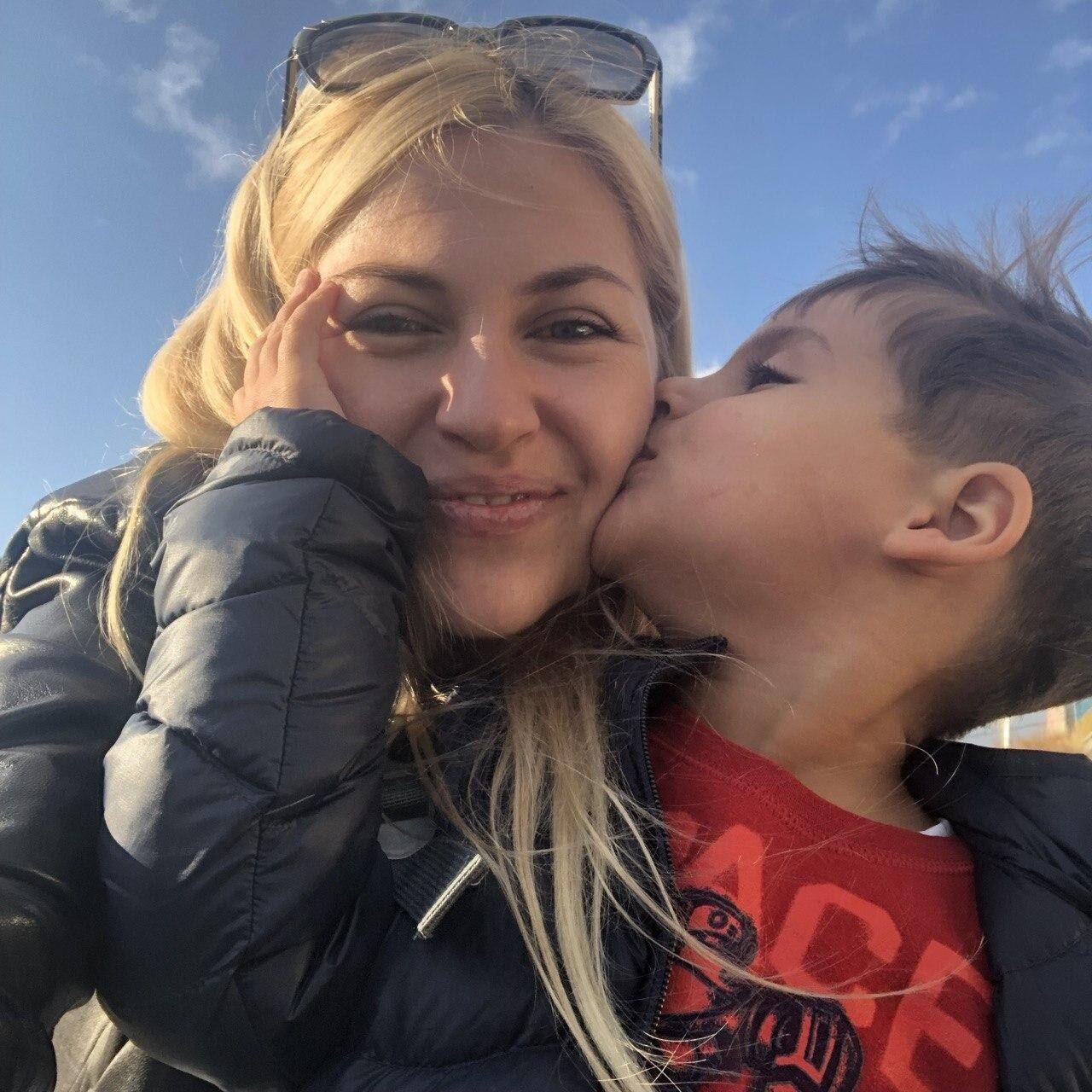 Лина с младшим сыном