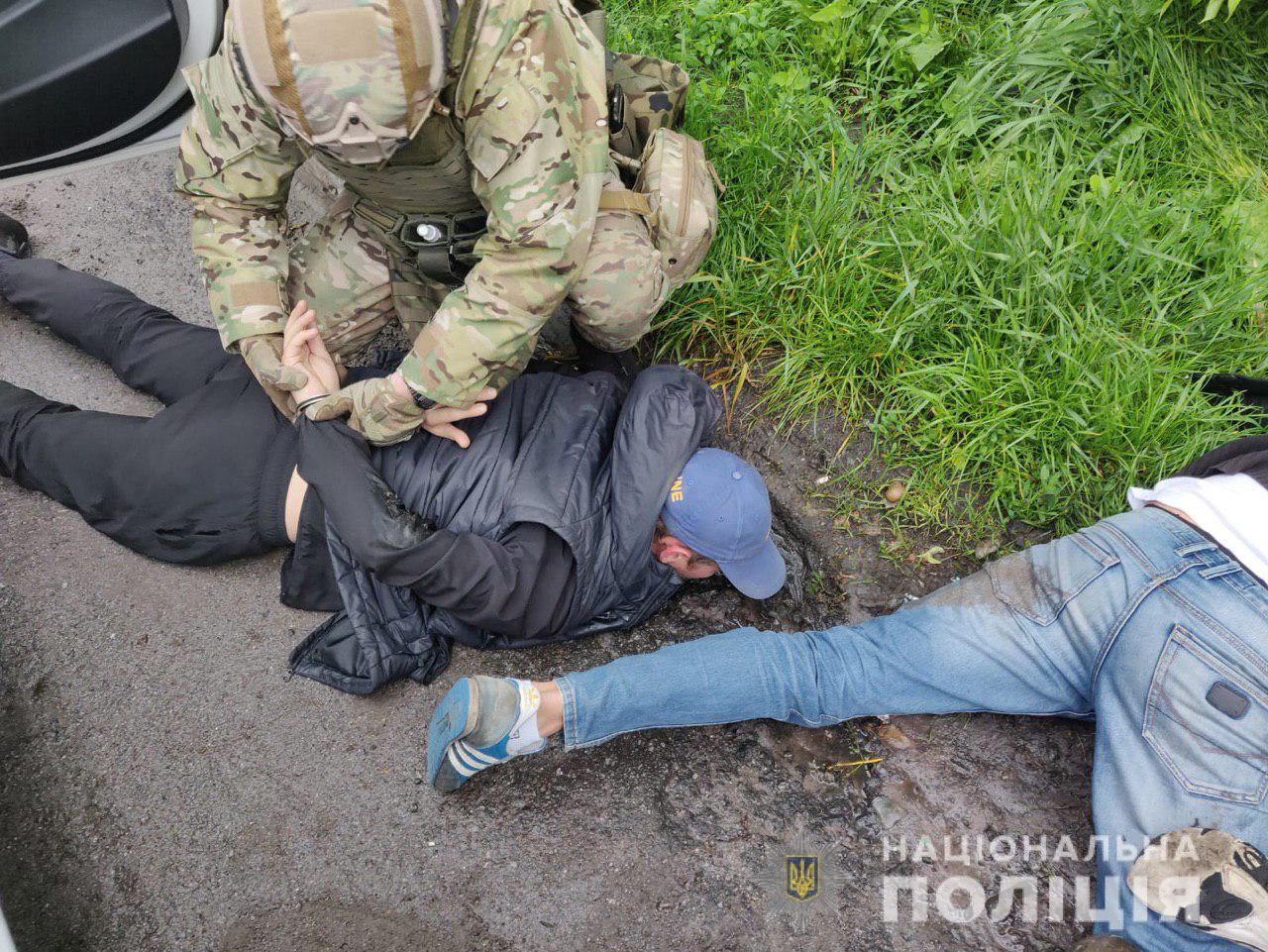 Задержание подозреваемых в Винницкой области