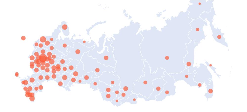 Карта распространения болезни