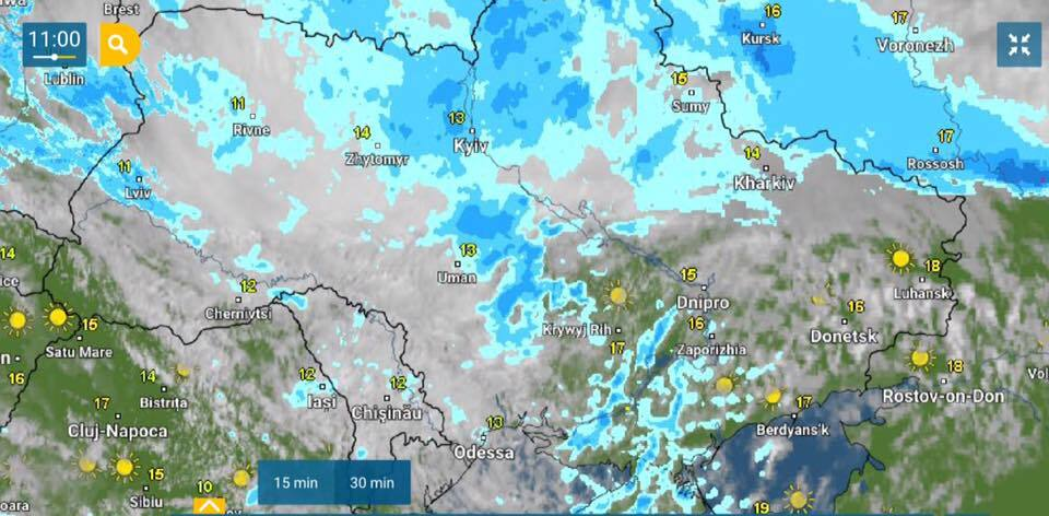 Киев ушел под воду из-за сильного ливня: машины поплыли, город тонет