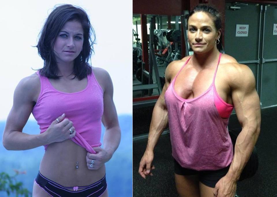 Тереза Иванчик (до и после приема стероидов)