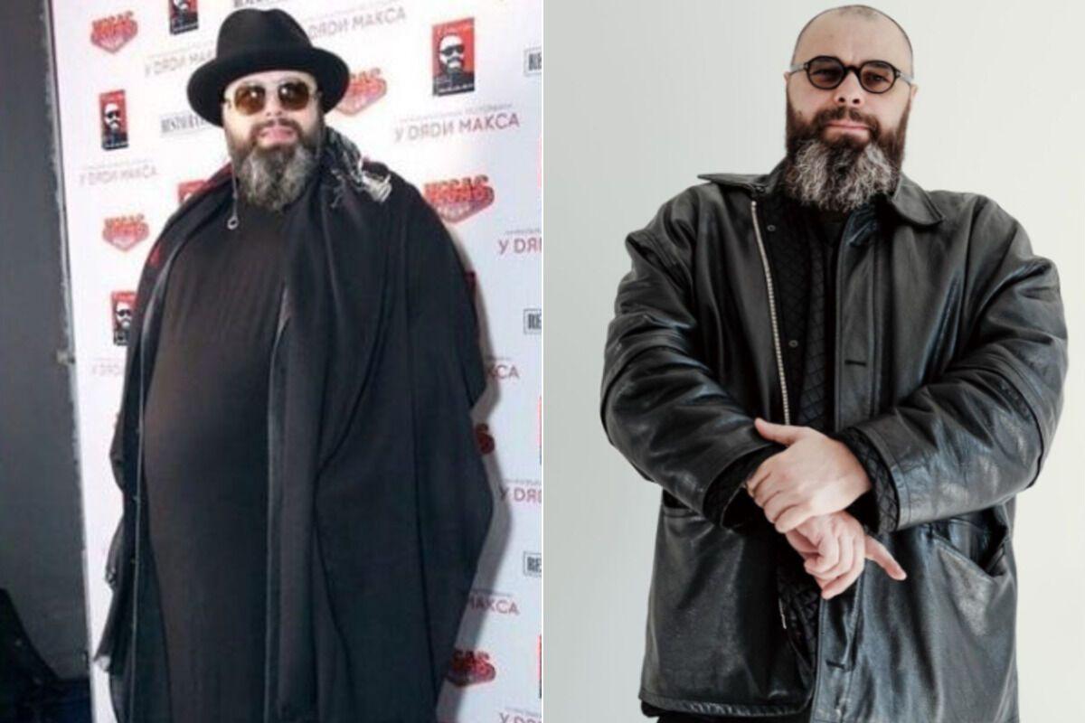 Максим Фадєєв до і після схуднення