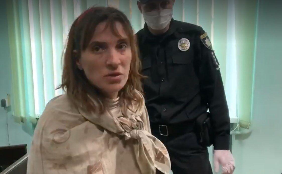 Тетяна П'янова під час судового засідання. Їй було обрано запобіжний захід у вигляді утримання під вартою терміном 60 днів
