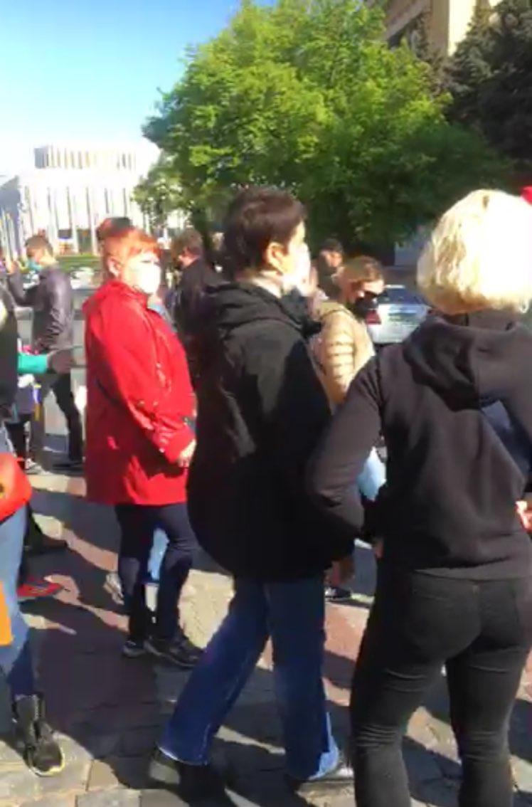 Митинг предпринимателей против карантина