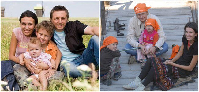 Игорь Пелых с семьей