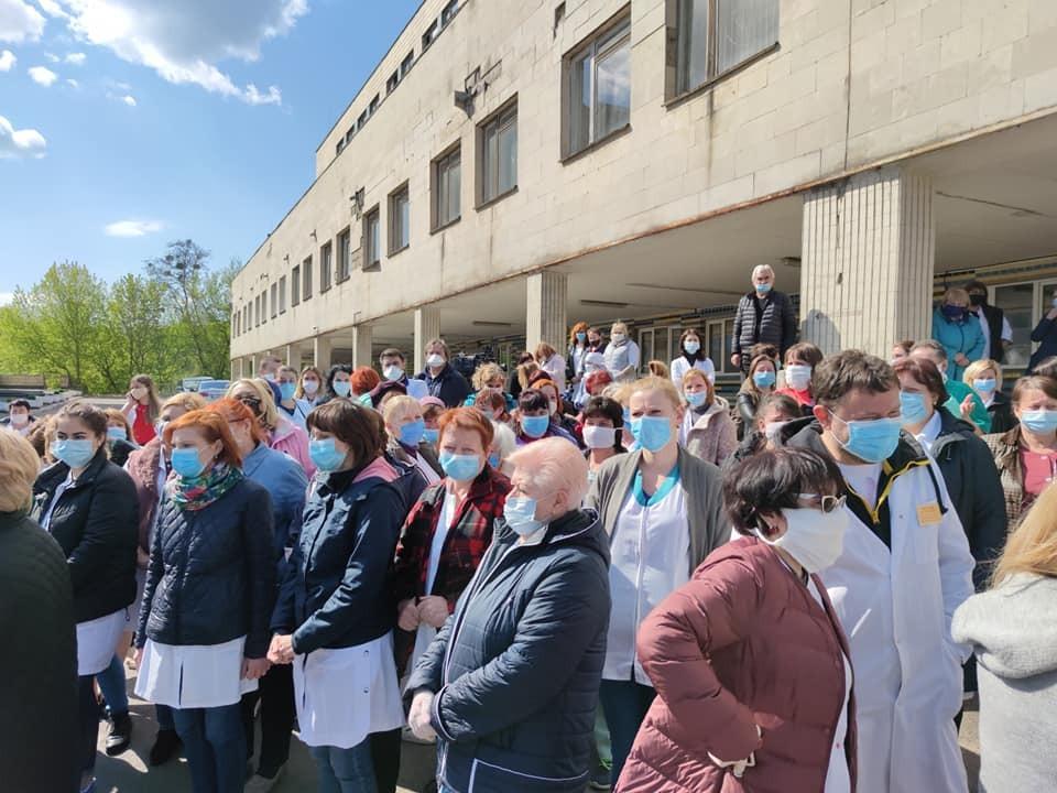 Медики Киевской психиатрической больницы вышли на протест