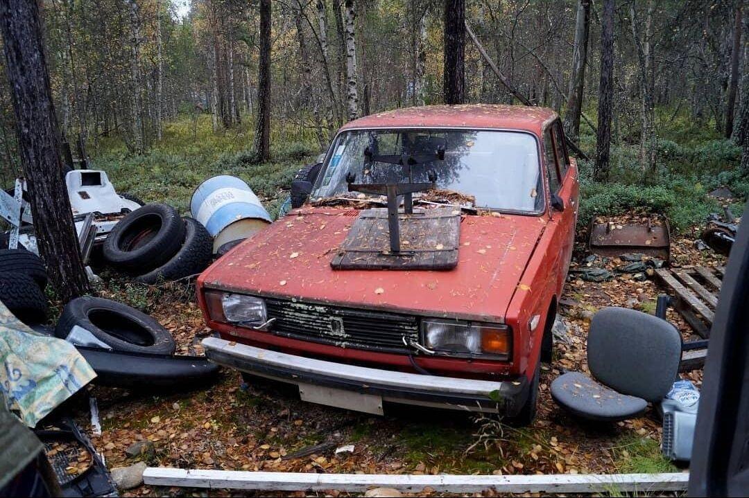 Советские авто, брошенные в финском лесу