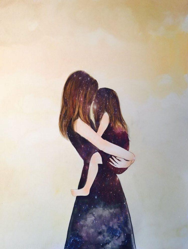 Рисунок маме от дочки