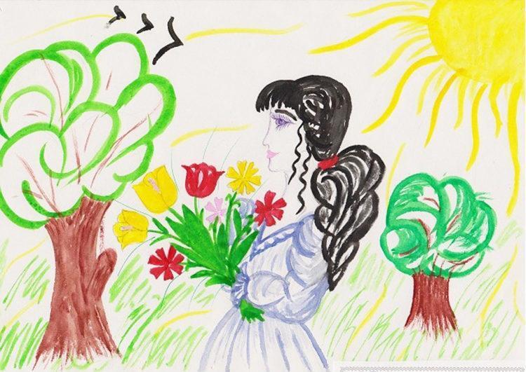 День матери: рисунок для мамы