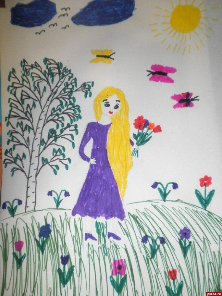 Рисунок про маму