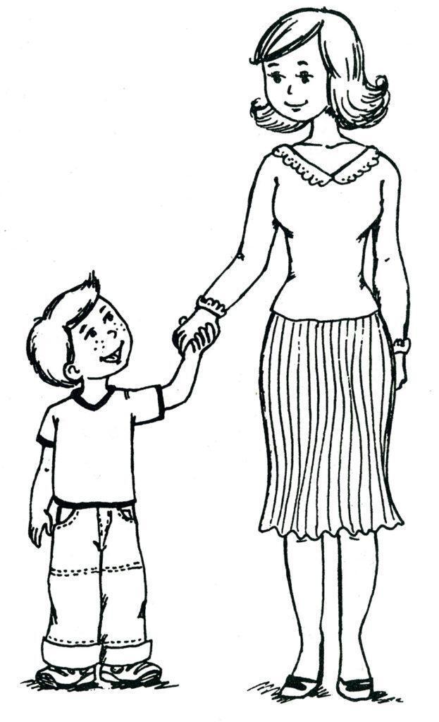 Рисунок маме от сына на День матери