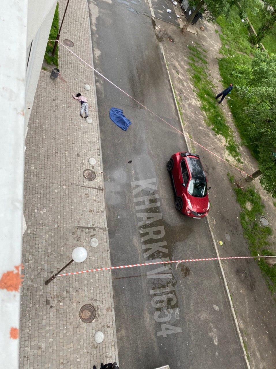 В Харькове мать с ребенком упали с 16-го этажа и разбились