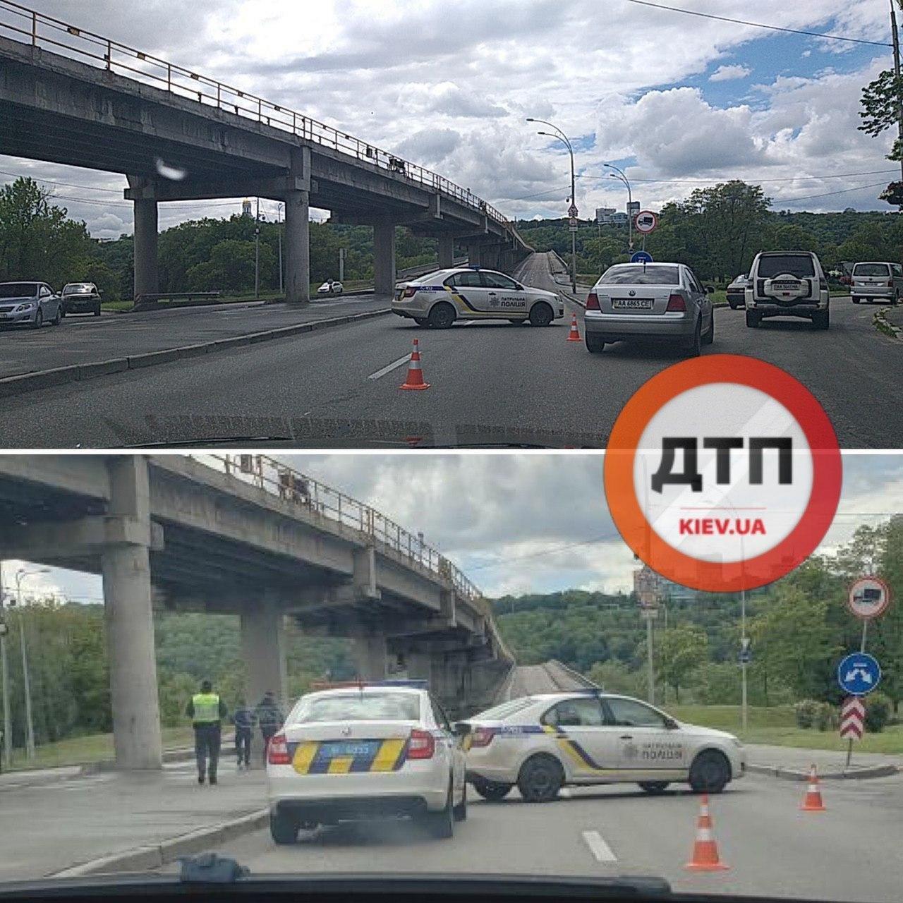 Момент задержания минера моста Метро в Киеве попал на видео
