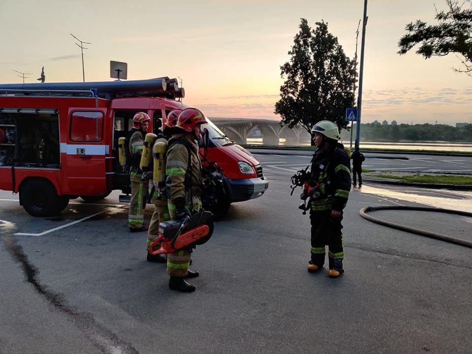 Пожар в ГСУ Нацполиции в Киеве