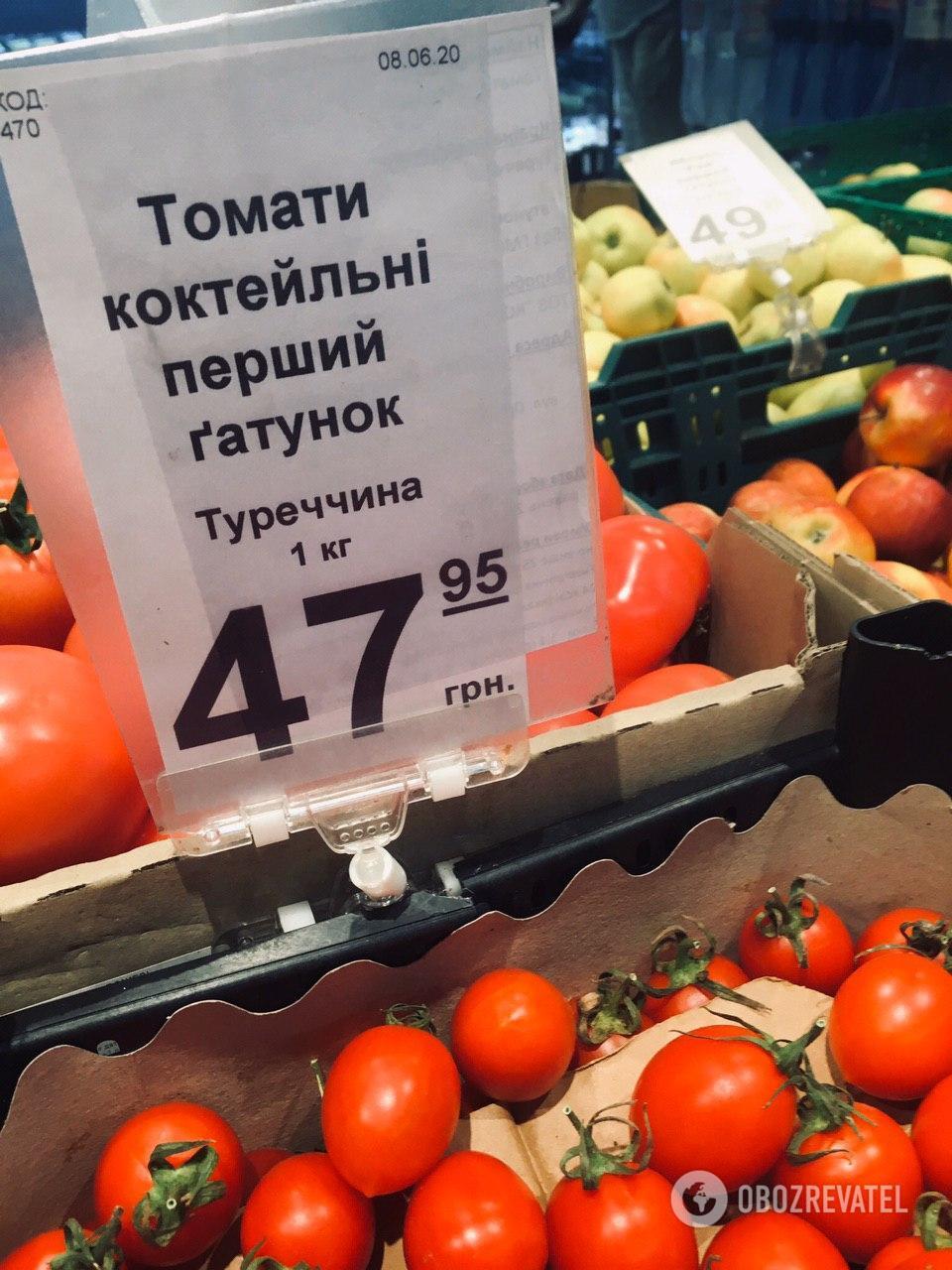 Турецкие томаты дешевле украинских